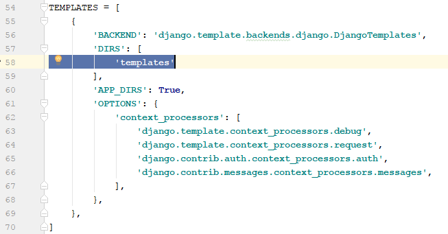 defining templates directory