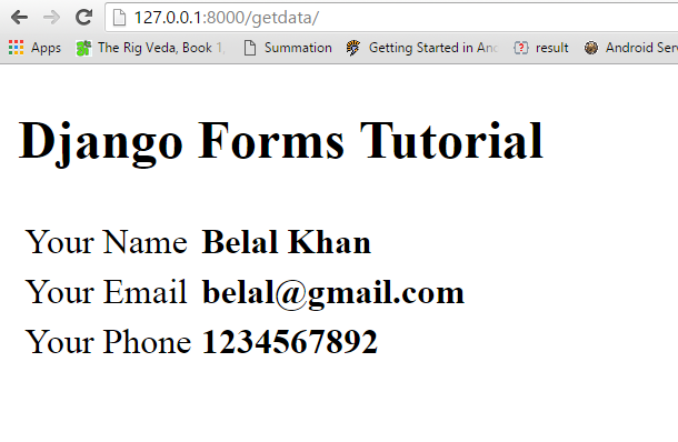 django forms tutorial